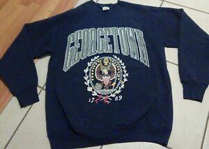 Vintage 80s 90s Georgetown University Sweatshirt 1789 Seal Logo Sz L