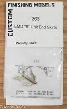 "Custom Finishing HO #263 EMD ""B"" Unit End Skirts"