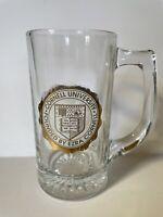 Cornell University Glass Beer Mug 5 1/2 inches Tall