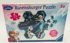 Disney Frozen Elsa's Snowflake 73 Piece Shaped Puzzle With Glitter Ravensburger