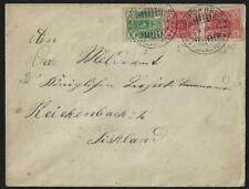 Finland 1900 Helsinki To Reichenbach Franked Sc 39 & Pair Sc 40a Arrival Cancel