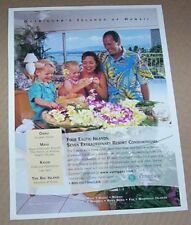 1999 print ad -Outrigger resort Hawaii family vacation travel little girl boy AD
