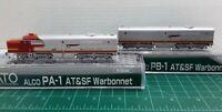 N Scale KATO PA-1 & PB-1 'Santa Fe' Both Powered DCC Ready Item #176-4120 & 4122