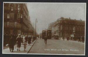 UNION STREET & BRIDGE ABERDEEN REAL PHOTO CARD