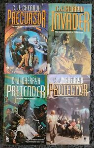 C.J. CHERRYH FOREIGNER SERIES TITLES PAPERBACK 4 BOOK LOT SCI FI FREE SHIPPING!