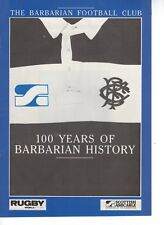 Programme 100 Years of Barbarians Rugby History