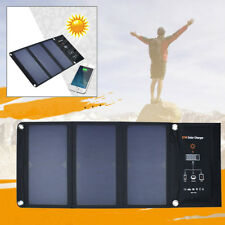 Waterproof 21W Solar Panel Charger Battery Power Bank Dual-Port for Outdoor Camp