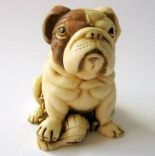 MPS Harmony Kingdom - QTs - Small Bulldog Figurine - Inspired by Netsuke - NIB