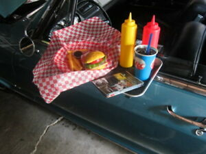 CAR HOP TRAY PACKAGE /  COMPLETE FOOD  & DRINK  HOT ROD, MAN CAVE CHECK IT OUT