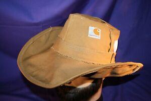 Carhartt Cowboy Hat size XL or 7-3/8 handmade tan formable duck fedora