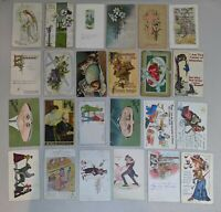 Lot of 38 Early 1900's Postcards - Holidays/Greetings/Humor/Friendship/Religious