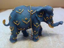 "Westland Tusk "" Blue & Gold "" - Elephant Ornament In Styrofoam"