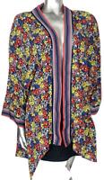Floral Kimono Shacket Jacket UK 20  8 10 12 14 16 18