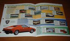 ★★1963-98 HISTORY OF THE LAMBORGHINI BROCHURE 350 GT 400 ISLERO COUNTACH DIABLO★