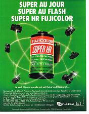 PUBLICITE ADVERTISING 104  1986  FUJI FILM    SUPER HR   FUJICOLOR