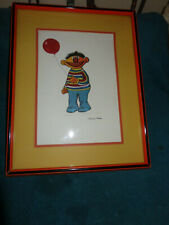 ERNIE FROM SESAME STREET FRAMED SIGNED PRINT BY PAMELA ABDUL #153 OF 200