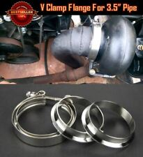 """T304 Stainless Steel V Band Clamp Flange Assembly For BMW 3.5"""" OD Exhaust Pipe"""