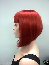 New vogue Cute BOB dark red wig straight short synthetic full women's wigs