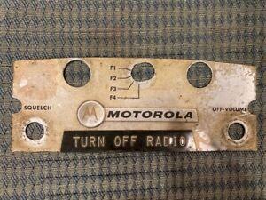 Vintage Motorola Motrac Faceplate off control head
