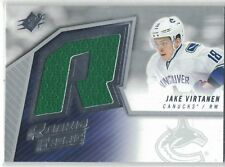2015-16 UD SPX Game Used Jersey Rookie Fabric Jake Virtanen Vancouver Canucks