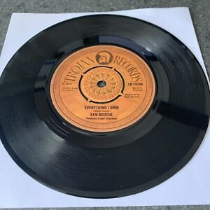 Ken Boothe, Everything I Own / Drum Song Original 1974 on Trojan Records TR 7920