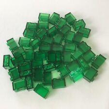 50 Lego Bausteine 1x2 transparent grün NEU Grundstein Basic Steine 3065 wie 3004