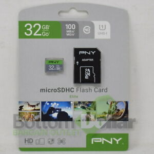 PNY 32GB MicroSDHC UHS-I 100MB Waterproof/Magnet Proof Memory Card Elite