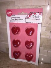 WILTON HEART SHAPED CANDLES VALENTINES