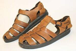 Mephisto Mens Size 10.5 11 44 Leather Buckle Fisherman Sandals Shoes 2A5743082