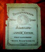 CatalinaStamps: Junior International Stamp Album, 1920, 1100 Stamps, D71