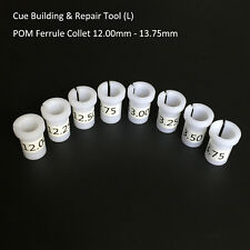 8PC Pool Cue POM Ferrule/Shaft Collet Sleeve - Cue Building Tool Lathe Accessory