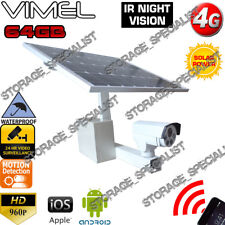 Farm Camera 4G Remote Solar View Surveillance Wireless 3G NO NEED HOME INTERNET