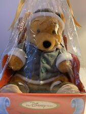"""WINNIE THE POOH PLUSH BEAR, WITH JACKET ON THAT READS """" 1999"""" DISNEY STORE LABEL"""