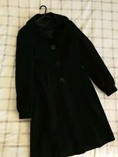 Ladies long smart black NEXT Coat Size 10