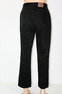 "LEE Riveted Women's 16M Medium Black Straight Leg 100% Cotton Jeans 29"" Inseam"
