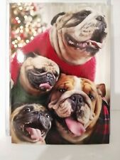 Cartes de souhait de Noel avec carlins french greeting cards with pugs