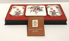 Royal Crown Derby Bone China Posies Mini Pin/Trinket Tray Set Vintage XLI - 1978