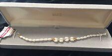Vintage 14K Seed Pearl Bracelet Delicate Elegant New With Box