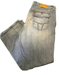 """38R Lucky Brand Women's Jeans Medium Wash Made in USA Relaxed Bootleg 31.5"""" Ins"""