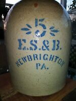 Spectacular E. S. & B. Pottery 5-Gallon Beehive Jug EXC!