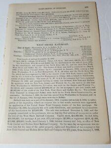 1886 train document WEST SHORE RAILROAD Weehawken NJ  Athens Coeymans Albany NY