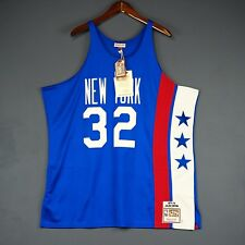 100% Authentic Julius Erving Dr J Mitchell & Ness NY Nets Jersey Size 48 XL