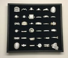 Lot Of 36 Sterling Silver Rings With Clear Stones (G#)