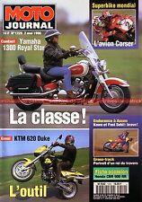 MOTO JOURNAL 1229 Essai YAMAHA XVZ 1300 Royal Star HONDA CBR 900 RR KTM 620 Duke