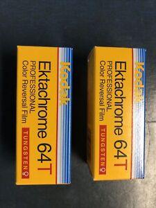 2 Rolls Expired Kodak Ektachrome 64T 120 Film 07/2007