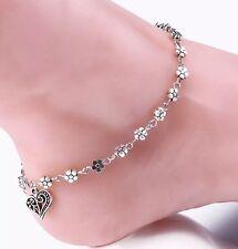 Bead Boho Daisy Chain Flower Summer Holliday GIFT Anklet / Ankle Bracelet UK A12