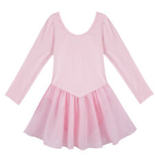 Girls Kids Skating Gymnastics Dance Dress Ballet Tutu Skirt Leotard Dancewear