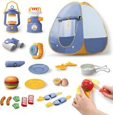 22 Pcs Kids Play Tent Play House Pop up Camping Tent Children Toy Indoor/Outdoor