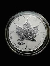 2016 1oz .9999 Fine Silver Canada Maple Tank Privy with airtite