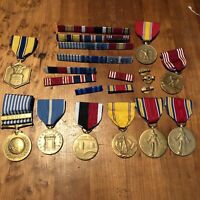 Lot Of WWII Korea Aviator Army Air Corp Medals, One Named